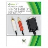 Genuine Microsoft HD VGA AV Cable SLIM Black for XBOX 360 - BRAND NEW, BOXED