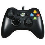 Genuine Official Microsoft Xbox 360 and PC WIRED Controller Black SLIM LIKE NEW