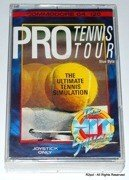 Pro Tennis Tour - boxed cassete version for Commodore C64 / C128 in VGC - TESTED