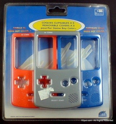3 Removable Covers for Game Boy Color GBC - Brand New