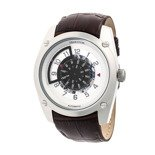 Heritor Automatic Daniels Semi-Skeleton Leather-Band Watch - HERHR3302