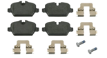 febi bilstein 16560 Brake Pad Set with additional parts, pack of four