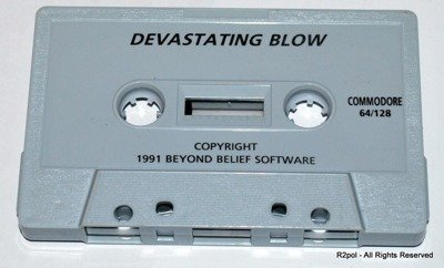 Devastating Blow - cassete version for Commodore C64 in VGC - TESTED