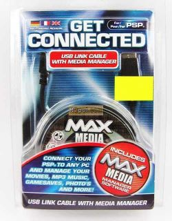 Get Connected - USB Link cable with Media Manager for PSP - Brand new