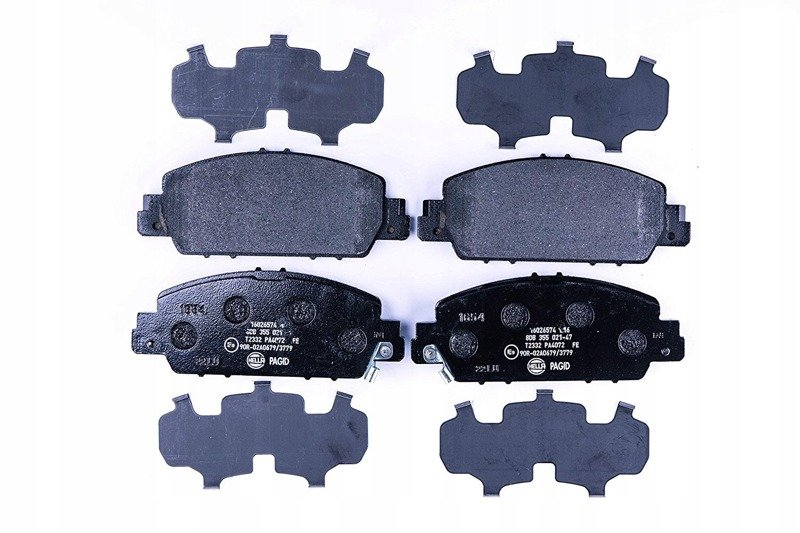 HELLA PAGID 8DB 355 021-471 Brake Pad Set, disc brake, Front Axle