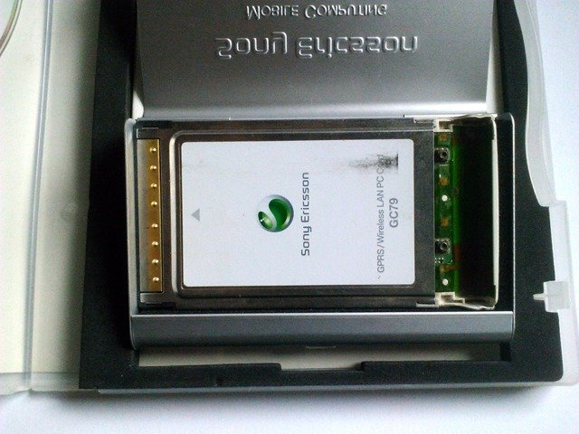 Sony Ericsson GC79 GPRS/Wireless LAN PC Card